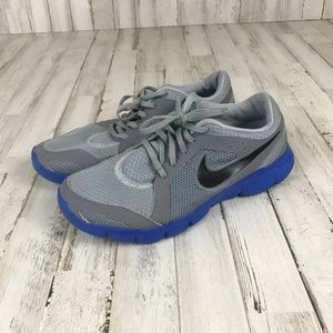 Nike Running Shoes 8.5 Gray Blue Flex Experience